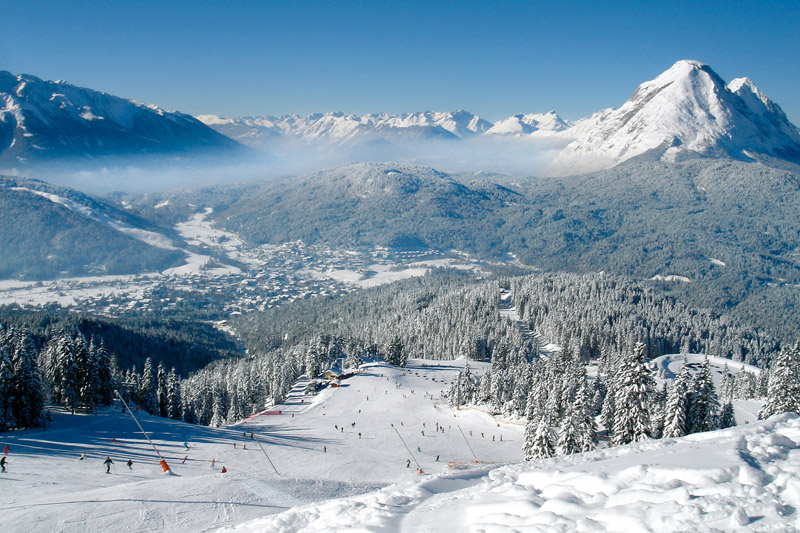Skigebiet Rosshütte in der Seefeld Olympiaregion in Tirol