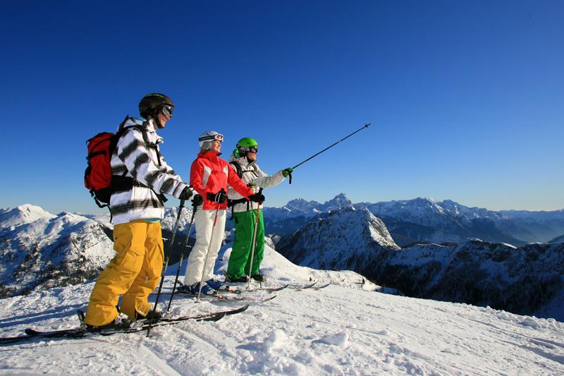 Skifahren auf dem Nassfeld