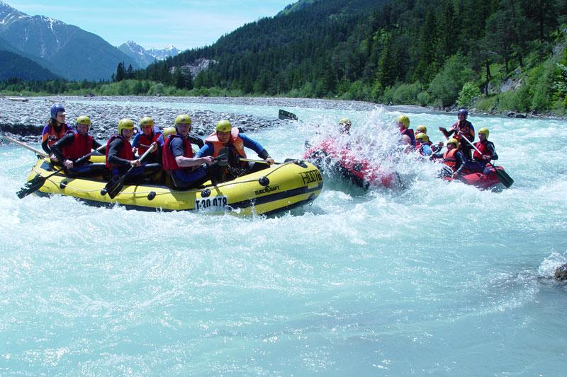 Rafting und Canyoning im Lechtal