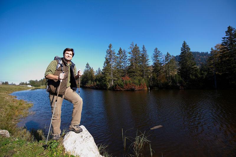Wandern am Hörmoss See