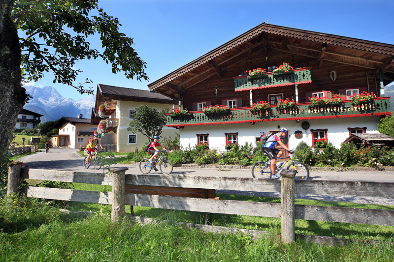 Radeln und Mountainbiken im Saalachtal