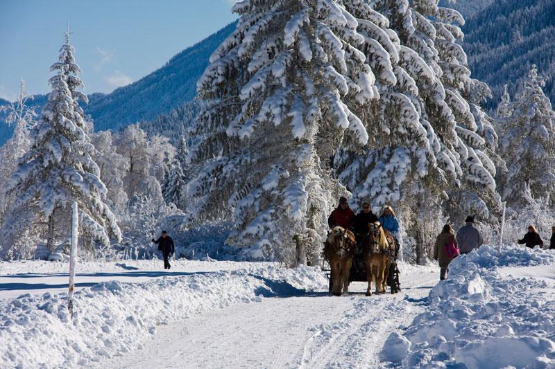 Erleben Sie die romantischen Winterlandschaften  am Weissensee
