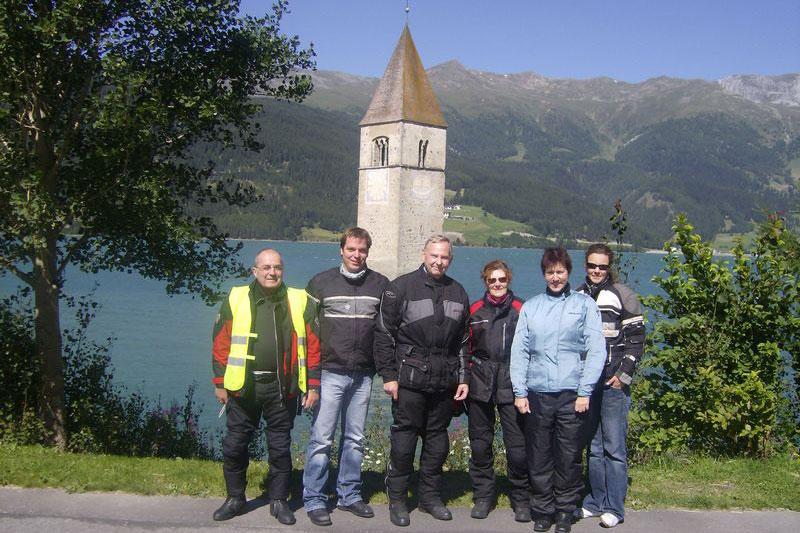Motorradtour zum Reschensee