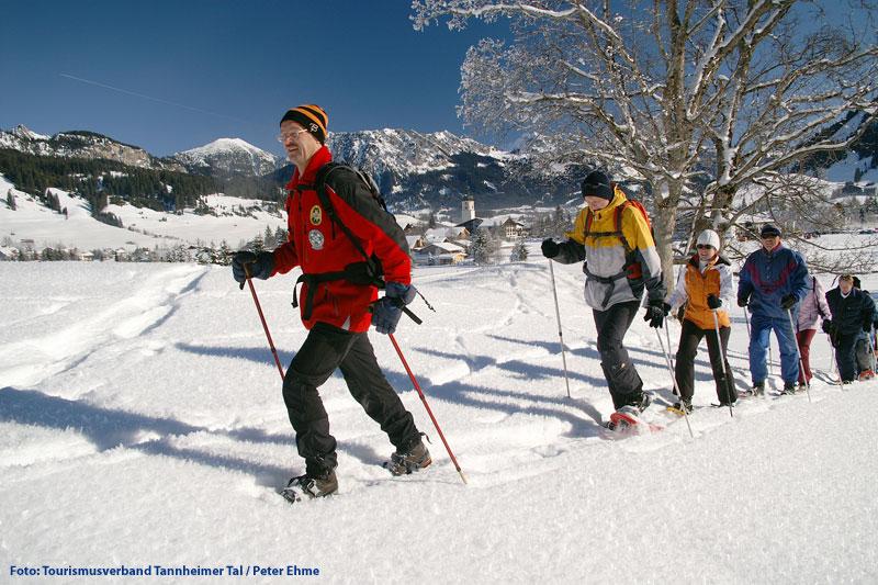 Geführte Schneeschuhwanderung im Tannheimer Tal