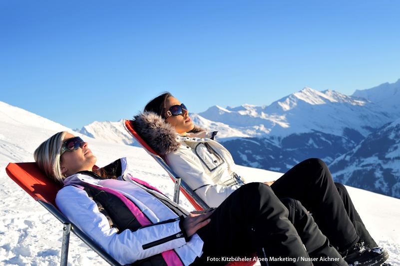 Sonnenbaden am Wilder Kaiser - Brixental in Tirol