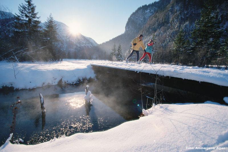 Winterurlaub in den Ammergauer Alpen - Oberbayern
