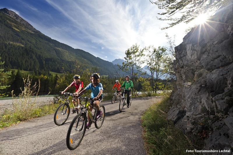 Radeln im Lechtal in Tirol