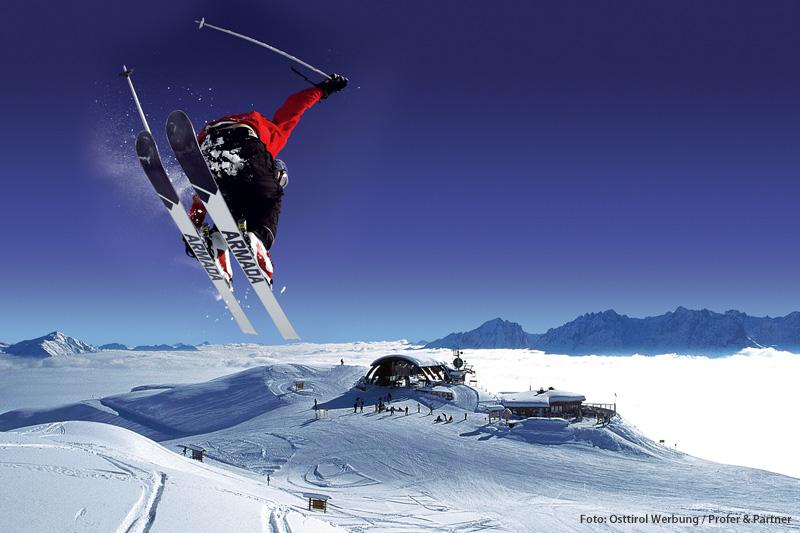 Skiefahren in den Lienzer Dolomiten in Osttirol