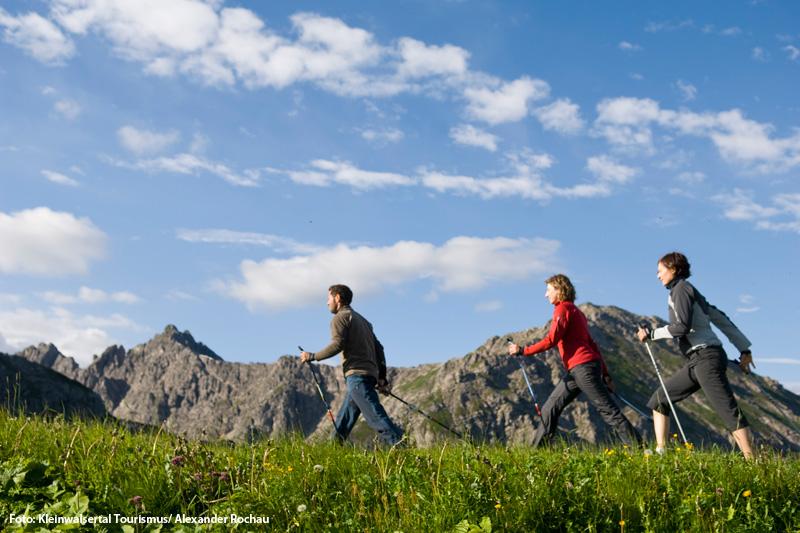 Nordic Walking im Kleinwalsertal