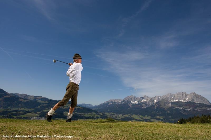 Golfspielen auf der Alm