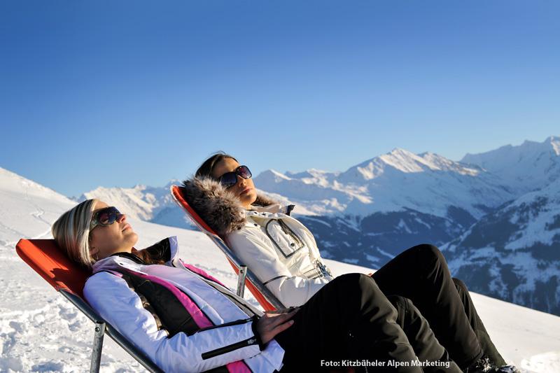 Sonnenbaden in den Kitzbüheler Alpen