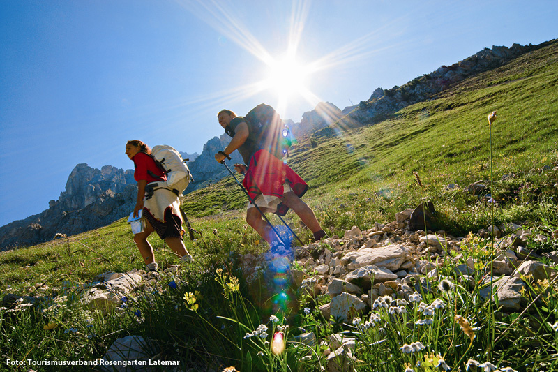 Wandern und Bergsteigen in der Ferienregion Eggental-Obereggen-Carezza