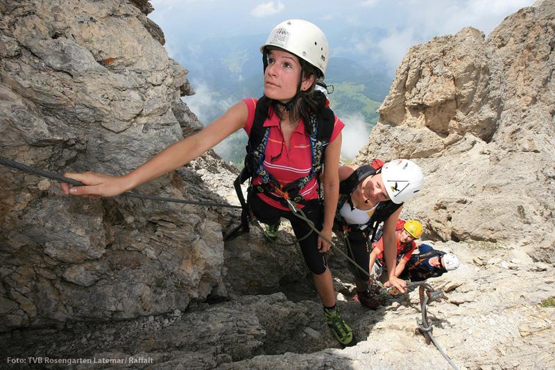 Klettern im Rosengarten-Massiv