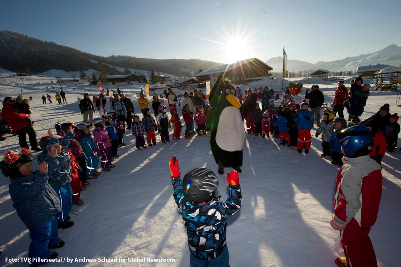Skifahren im Bobo-Kinderpark