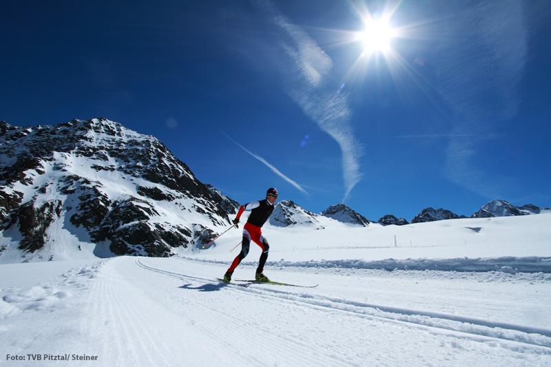 Langlaufen am Pitztaler Gletscher