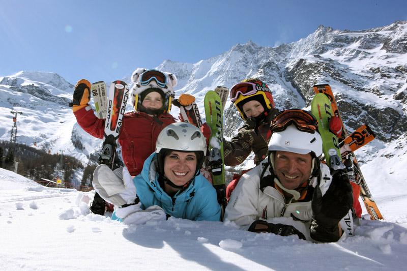 Familien-Skiurlaub in Saas-Fee