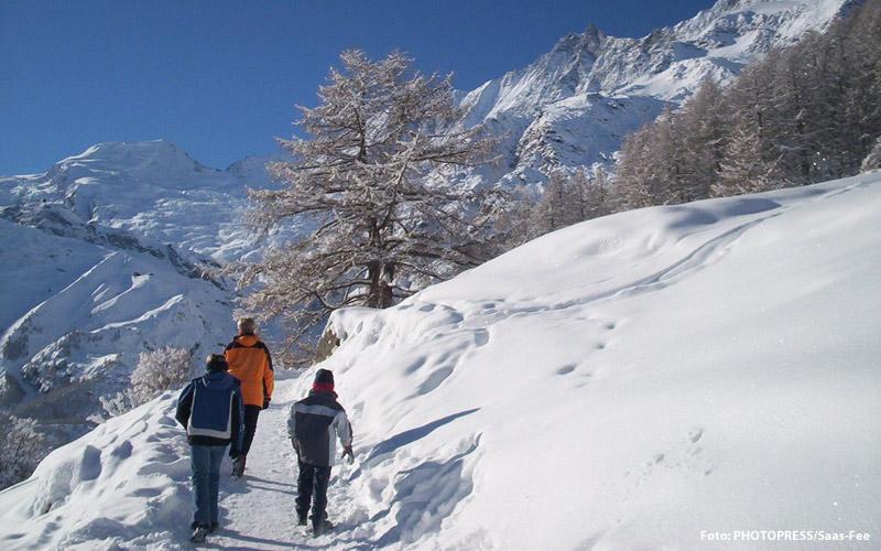 Winterwandern in Saas Fee