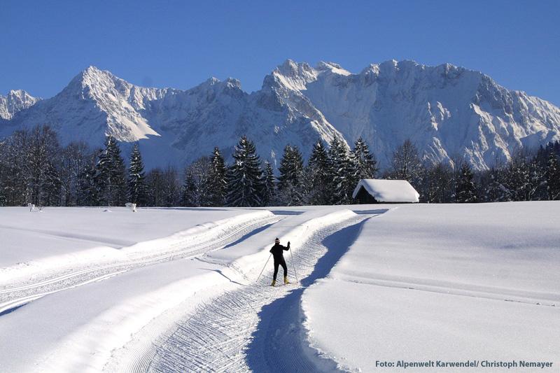 Langlaufen in der Alpenwelt Karwendel