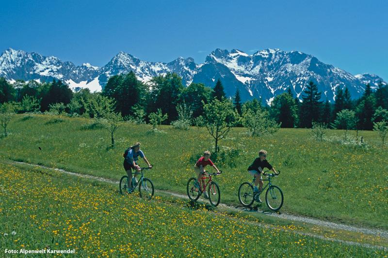 Radfahren und Mountainbiken in Krün, Wallgau, Mittenwald
