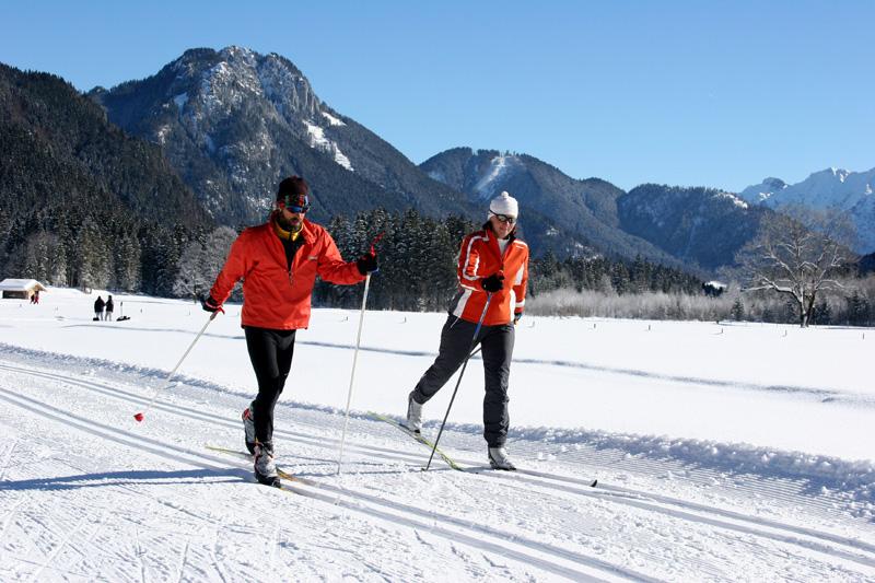 Langlaufen in den Ammergauer Alpen
