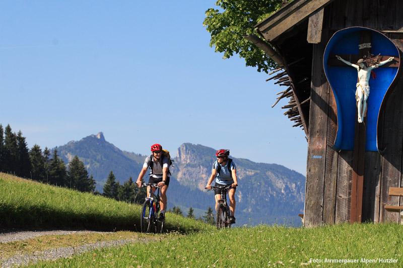 Radfahren in den Ammergauer Alpen
