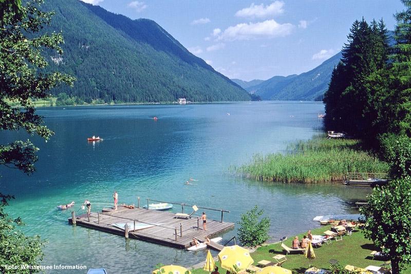Badeurlaub am Weissensee in Kärnten