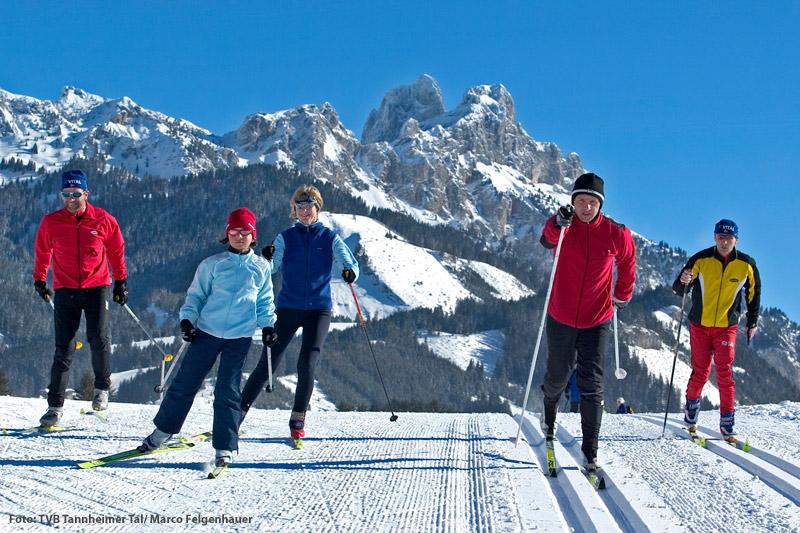 Langlaufen im Tannheimer Tal in Tirol
