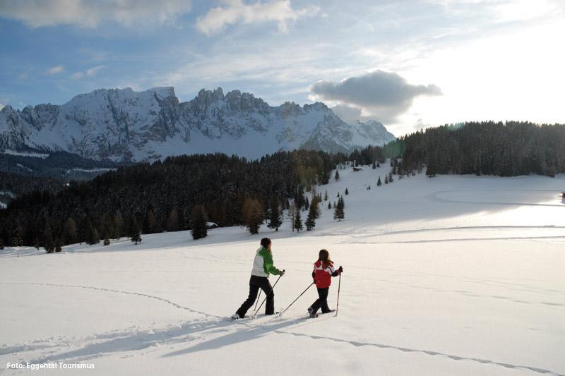 Winterwandern im Südtiroler Eggental