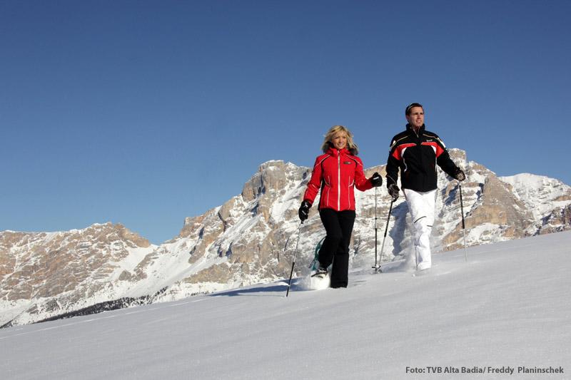 Schneeschuhwanderung in den Dolomiten