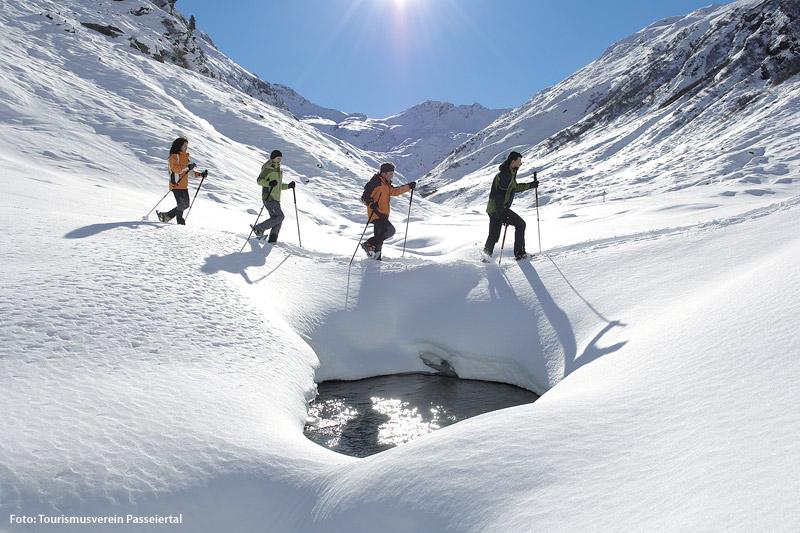 Schneeschuhwandern im Passeiertal