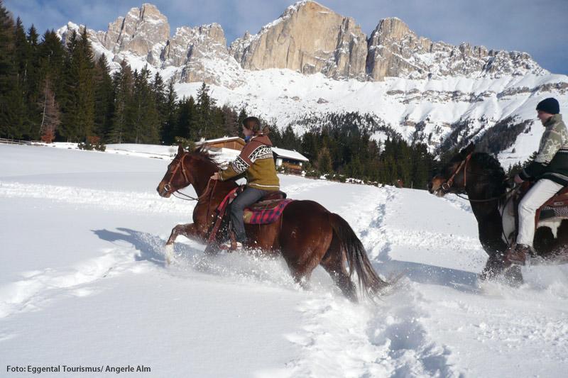 Reiten in den Dolomiten