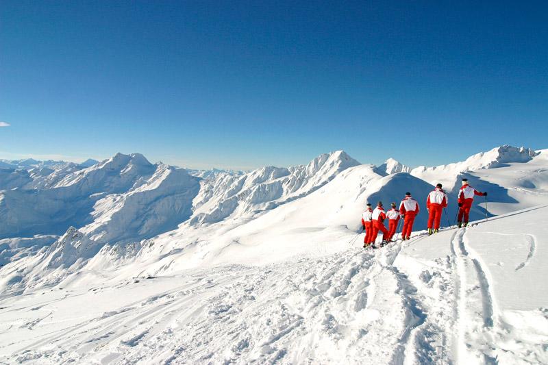 Winterpanorama im Schnalstal