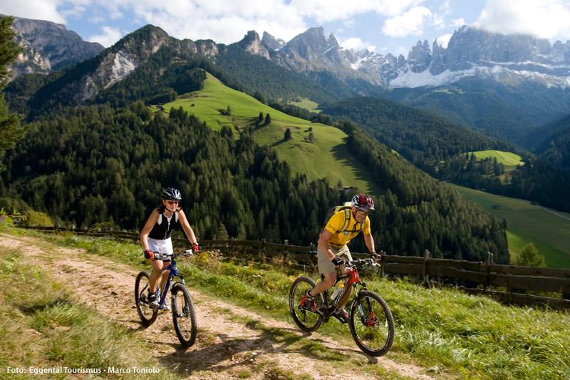 Mountainbiken im Eggental