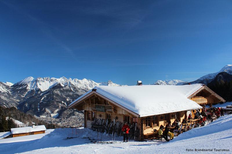 Berghütte Rufana Alp auf der Tschengla am Bürserberg