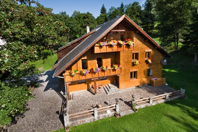Hütte Alpila im Wandergebiet Brandnertal
