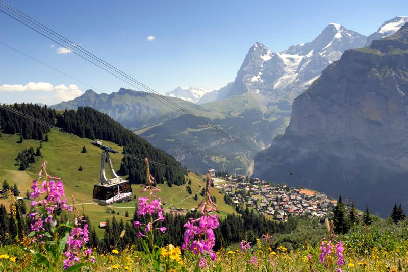 Wanderurlaub in Mürren im Berner Oberland
