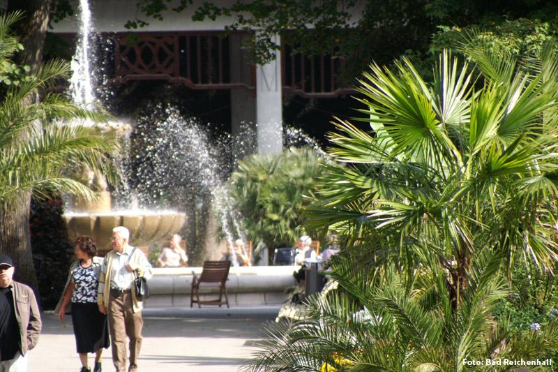 Garten der Heilung mit Gradierwerk in Bad Reichenhall