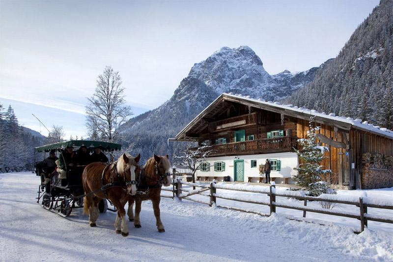 Pferdeschlittenfahrten im Nationalpark Berchtesgaden