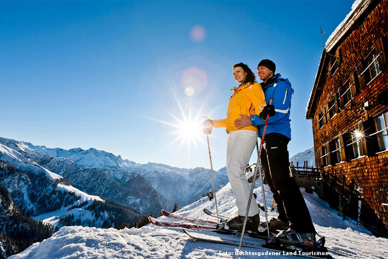Das oberbayerische Skigebiet Oberau-Roßfeld erleben