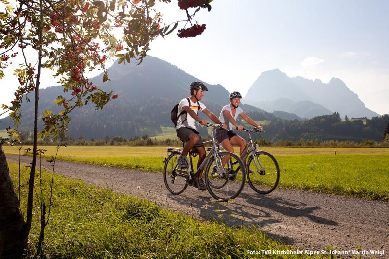 Radeln- und Mountainbiken in den Kitzbüheler Alpen St. Johann