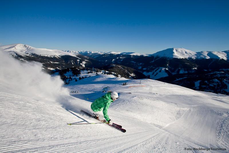 Wintersportgebiet Turracher Höhe - Das Hotel liegt direkt an der Skipiste
