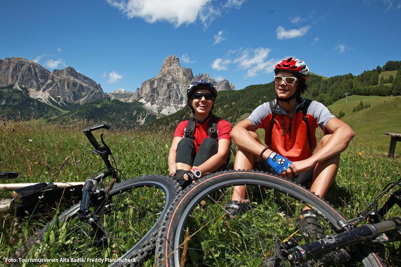 Geführte Mountainbike Touren mit dem Kolfuschger Hof