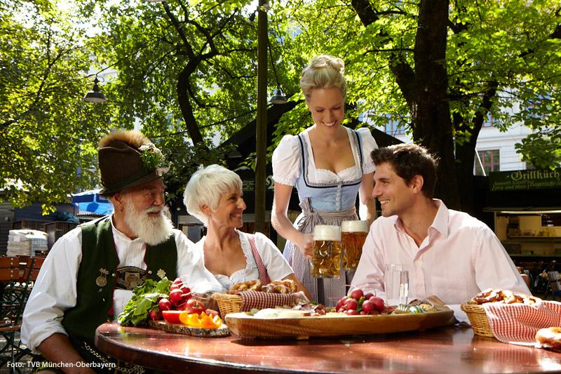 Sommerzeit ist Biergartenzeit in Bayern
