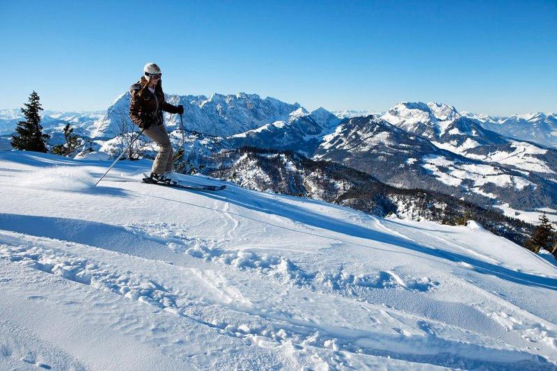 Skifahren Zahmer Kaiser, Amberg und Hochkössen