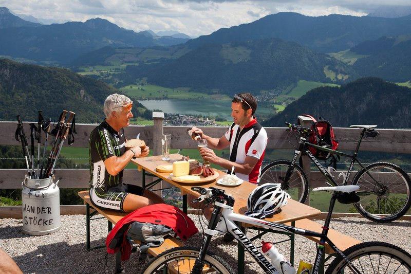 Wandern und Mountainbiken am Walchsee