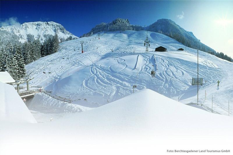 Skigebiet Jenner in Schönau am Königssee in der Region Berchtesgardener Land in Oberbayern