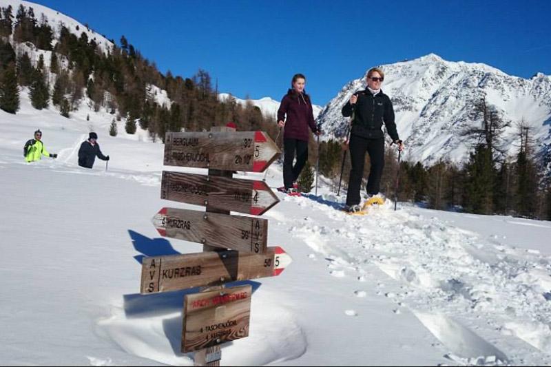 Schneeschuhwandern im Schnalstal auf 1.508 m