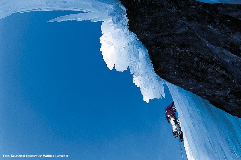 Eisklettern im Kaunertal