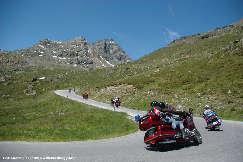 Das Kaunertal ist eine Pilgerstätte für Motorradfahrer