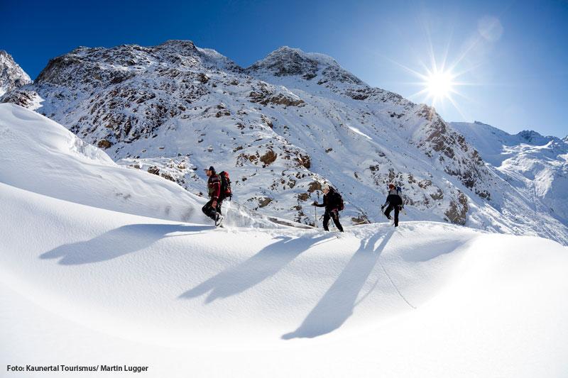 Winterwandern im Kaunertal in Tirol
